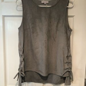 1.STATE SIZE S faux suede top